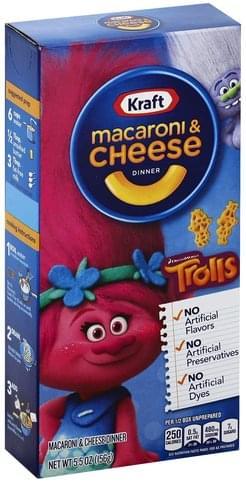 Kraft DreamWorks Trolls Macaroni & Cheese Dinner - 5.5 oz