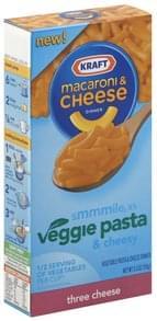 Kraft Vegetable Pasta and Cheese Dinner Three Cheese