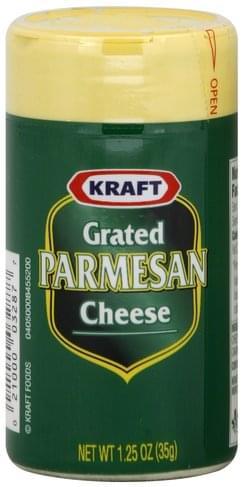 Kraft Parmesan Grated Cheese - 1.25 oz