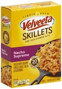 Velveeta Pasta with Creamy Cheese Sauce, Salsa & Seasoning, Nacho Supreme