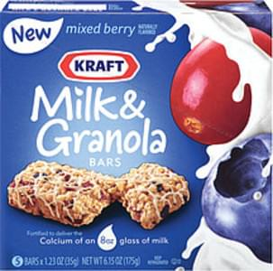 Kraft Milk & Granola Bars Mixed Berry 1.23 Oz