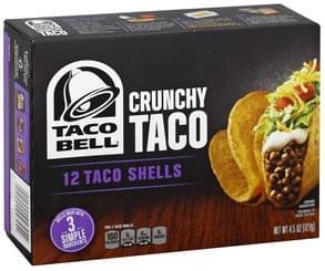 Taco Bell Taco Shells Crunchy Taco
