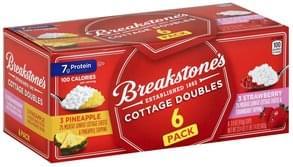 Breakstones Cottage Cheese 2% Milkfat, Lowfat, Pineapple, Strawberry