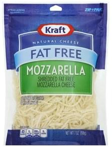 Kraft Cheese Shredded, Mozzarella, Fat Free