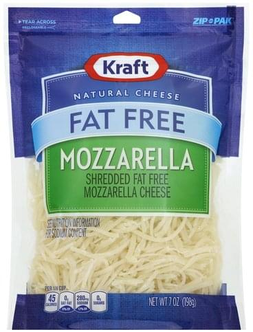 Kraft Shredded, Mozzarella, Fat Free Cheese - 7 oz