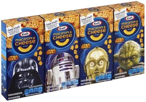 Kraft Star Wars Shapes Macaroni & Cheese Dinner - 4 ea