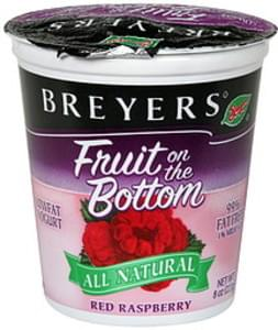 Breyers Lowfat Yogurt Red Raspberry, All Natural