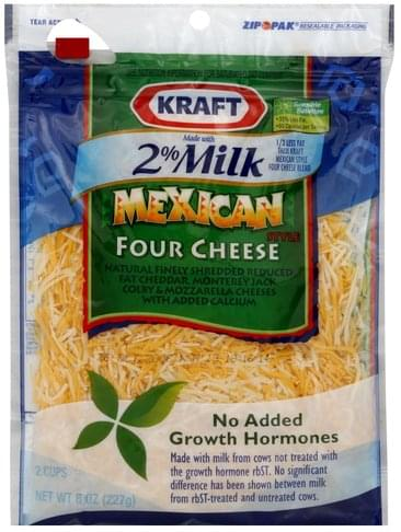 Kraft Mexican Style Four Cheese Shredded Cheese - 8 oz