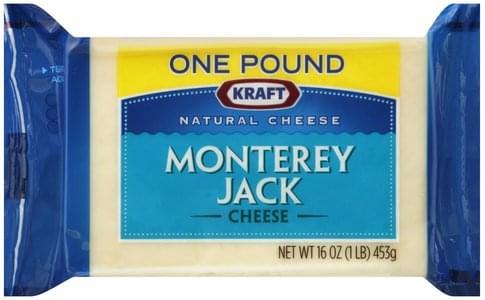 Kraft Monterey Jack Cheese - 16 oz, Nutrition Information   Innit