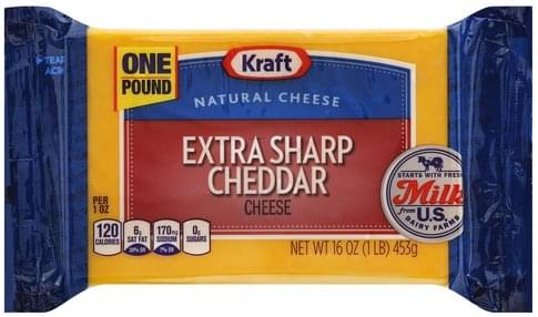 Kraft Extra Sharp Cheddar Cheese - 16