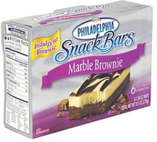 Philadelphia Marble Brownie Snack Bars - 6 ea