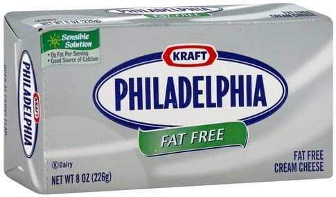Philadelphia Fat Free Cream Cheese - 8 oz