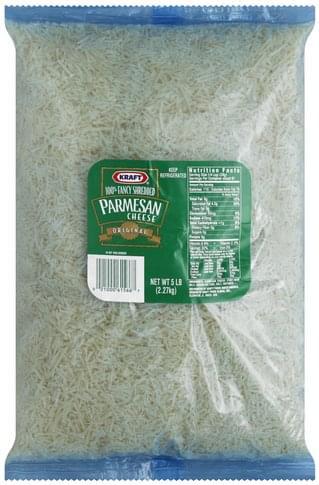 Kraft Parmesan, Original Fancy Shredded Cheese - 5 lb