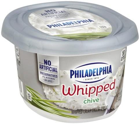 Philadelphia Whipped, Chive Cream Cheese Spread - 7.5 oz