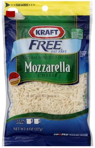 Kraft Mozzarella, Fat Free Shredded Cheese - 8 oz