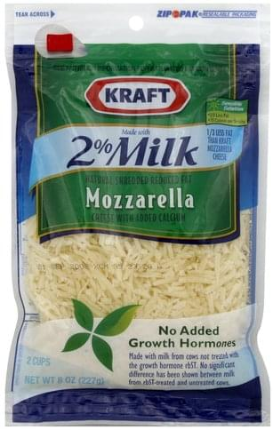 Kraft Reduced Fat, Mozzarella Shredded Cheese - 8 oz