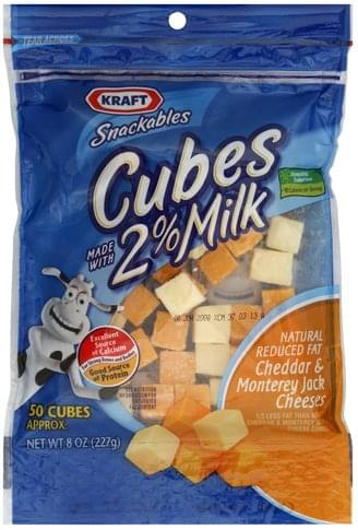 Kraft Natural Reduced Fat Cheddar & Monterey Jack Cheese Cubes - 8