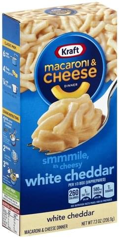 Kraft White Cheddar Macaroni & Cheese Dinner - 7.3 oz