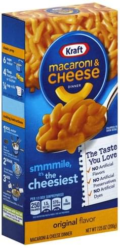 Kraft Original Flavor Macaroni & Cheese Dinner - 7.25 oz