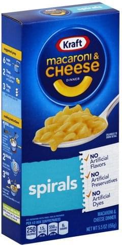 Kraft Spirals Macaroni & Cheese Dinner