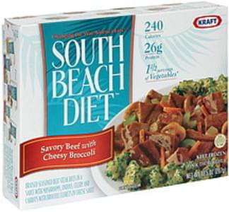 South Beach Diet Savory Beef with Cheesy Broccoli