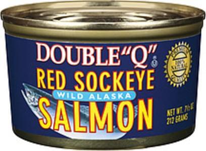 "Double ""Q"" Salmon Red Sockeye Wild Alaska"