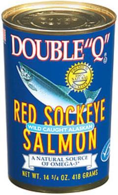 "Double ""Q"" Salmon Red Sockeye Wild Caught Alaskan"