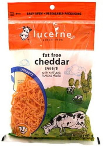 Lucerne Fat Free Cheddar Shredded Cheese - 8 oz