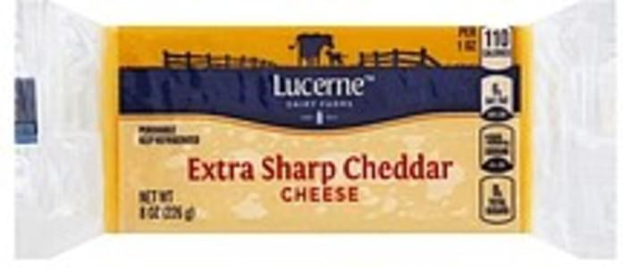 Lucerne Cheese Cheddar, Extra Sharp