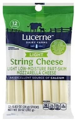 Lucerne String Cheese Mozzarella, Light