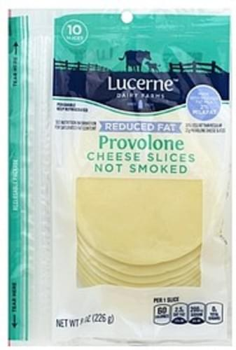 Lucerne Slices, Not Smoked, Provolone, Reduced Fat Cheese - 10 ea