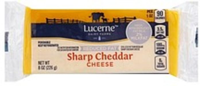 Lucerne Cheese Sharp Cheddar, Reduced Fat