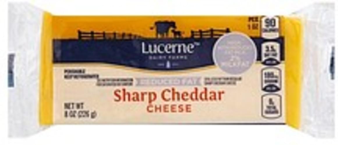 Lucerne Sharp Cheddar, Reduced Fat Cheese - 8 oz