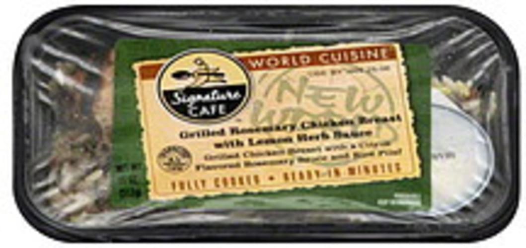 Signature Cafe with Lemon Herb Sauce Grilled Rosemary Chicken Breast - 11 oz