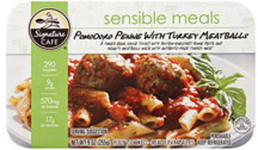 Signature Cafe Pomodoro Penne with Turkey Meatballs - 9 oz