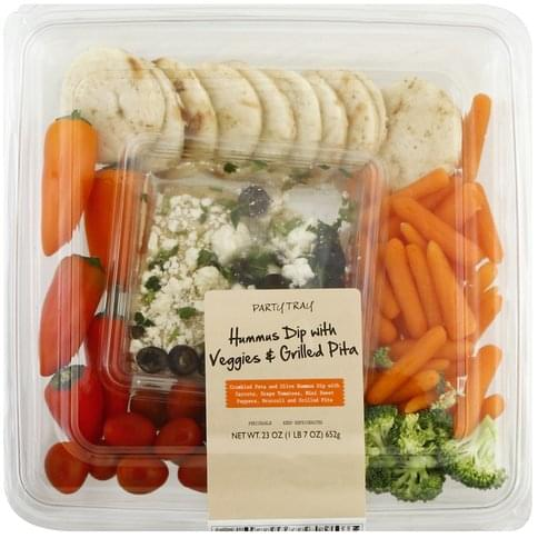 Taylor Farms Hummus Dip with Veggies & Grilled Pita Party Tray - 23 oz