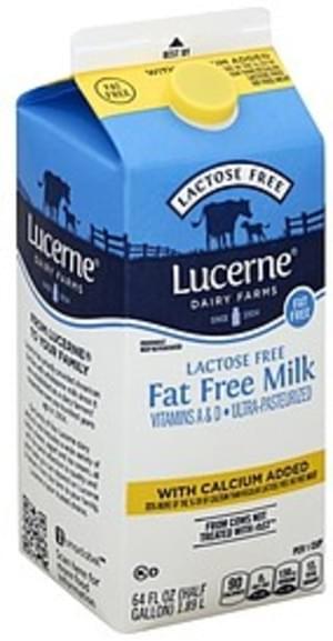 Lucerne Lactose Free, Fat Free Milk - 64 oz