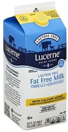 Lucerne Milk Lactose Free, Fat Free