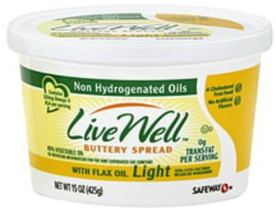 Safeway Buttery Spread Light, with Flax Oil