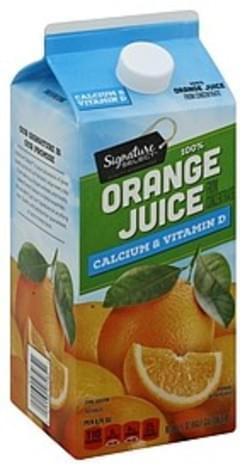 Signature Orange Juice 100% Pure, Calcium & Vitamin D