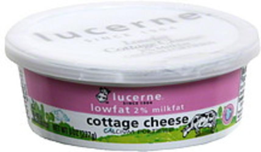 Lucerne 2% Milkfat, Lowfat Cottage Cheese - 8 oz