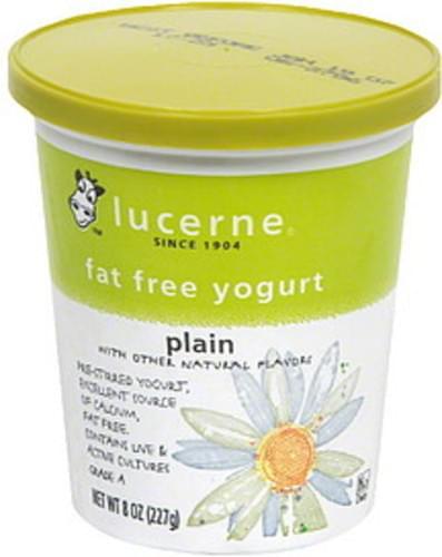 Lucerne Plain Fat Free Yogurt - 8 oz