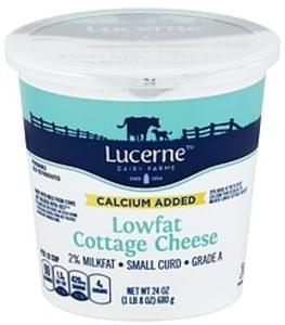 Lucerne Cottage Cheese Small Curd, 2% Milkfat, Lowfat