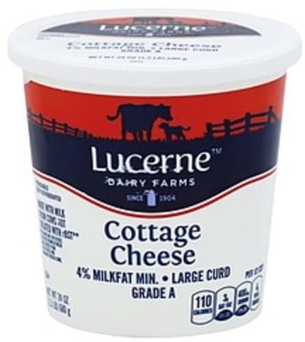 Lucerne Large Curd 4 Milkfat Cottage Cheese 24 Oz Nutrition Information Innit