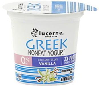 Lucerne Yogurt Nonfat, Greek, Vanilla