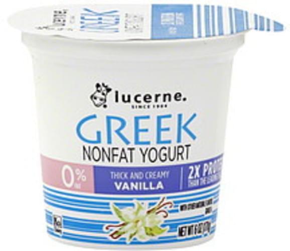 Lucerne Nonfat, Greek, Vanilla Yogurt - 6 oz