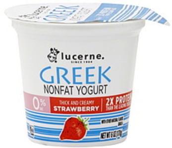 Lucerne Yogurt Nonfat, Greek, Strawberry
