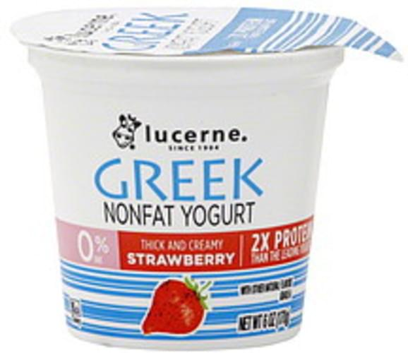 Lucerne Nonfat, Greek, Strawberry Yogurt - 6 oz