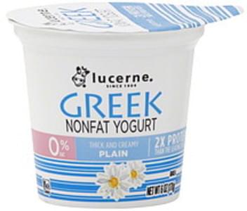 Lucerne Yogurt Nonfat, Greek, Plain,