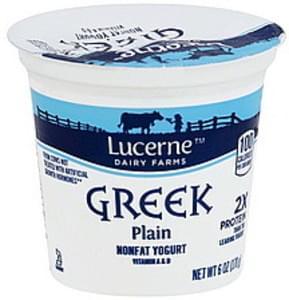 Lucerne Yogurt Greek, Nonfat, Plain